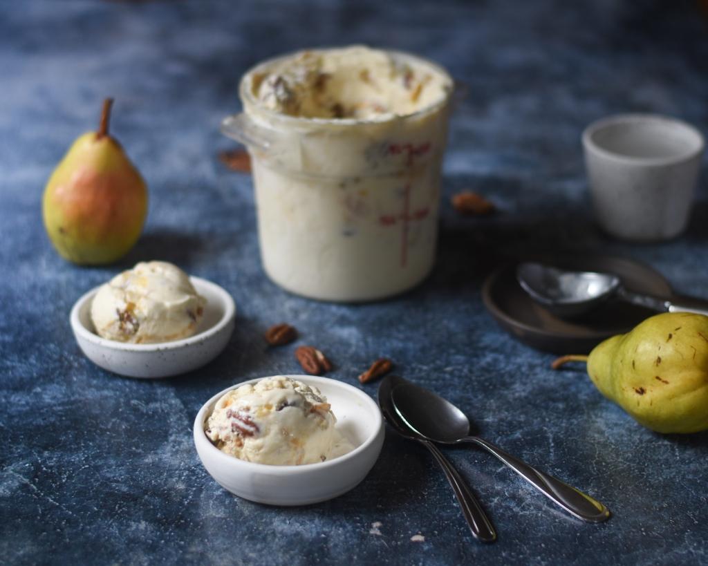 Haagen dazs inspired pear pecan ice cream